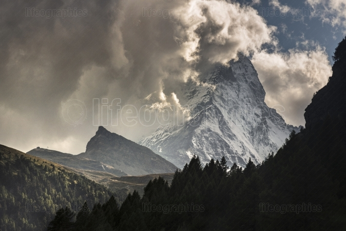 Dramatic view of the Matterhorn