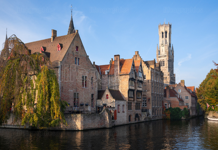 Early morning in Bruges, Belgium