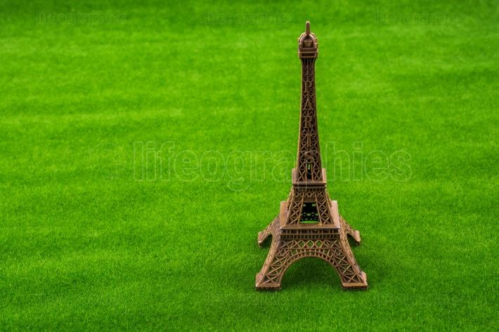 Eiffel Tower model  on grass
