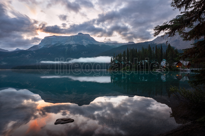 Emerald lake, Yoho National Park, British Columbia, Canada, Cana