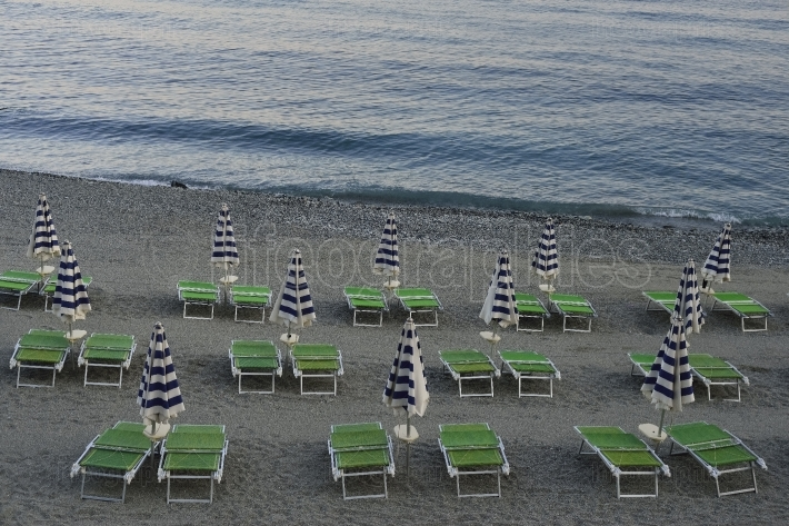 Empty beach from Varazze