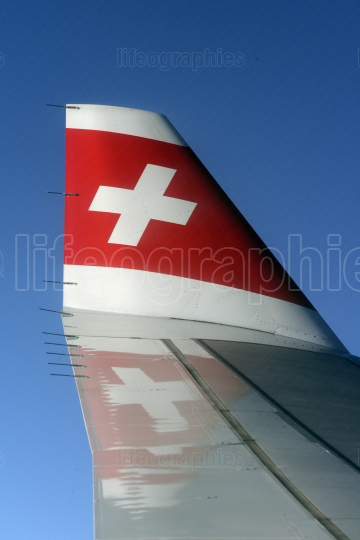 EUROPE SWITZERLAND AIRPLANE SWISS AIRLINES