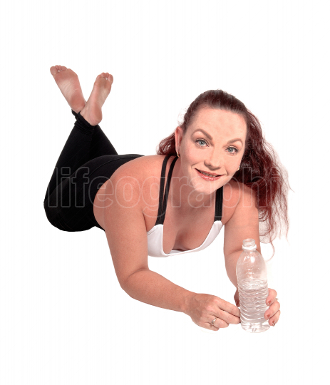 Exercise woman lying on the floor