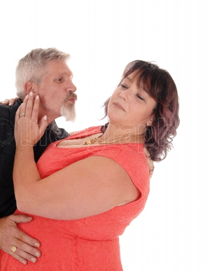 Fighting middle age couple