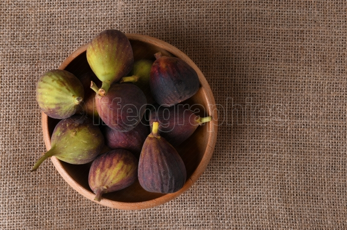 Figs in Wood Bowl