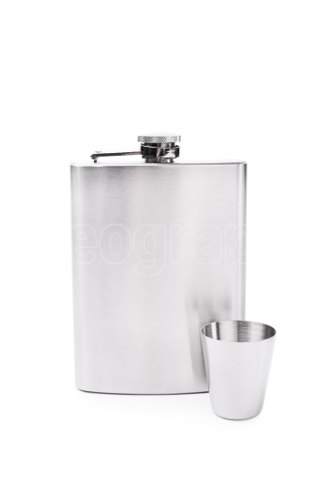 Flask and a small glass
