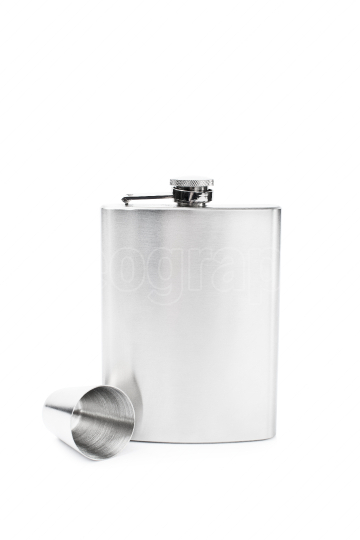 Flask with a small glass