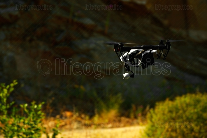 Flying with a drone for video and photo productions