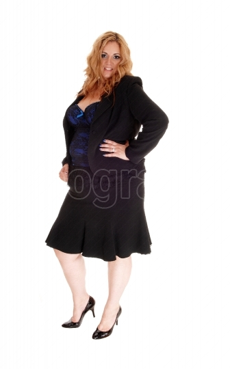 Full length image of plus size woman
