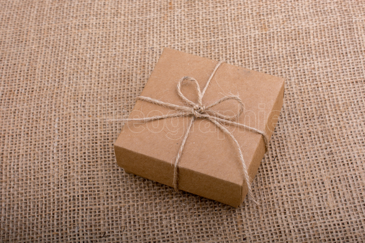 Gift box of brown color