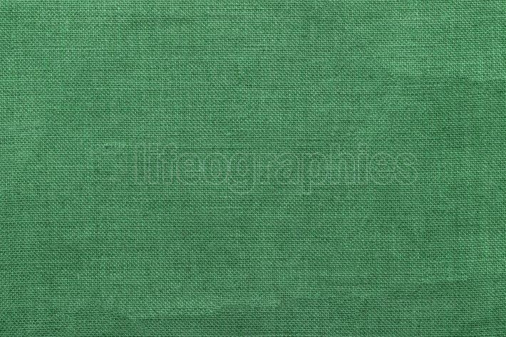 Green burlap background and texture