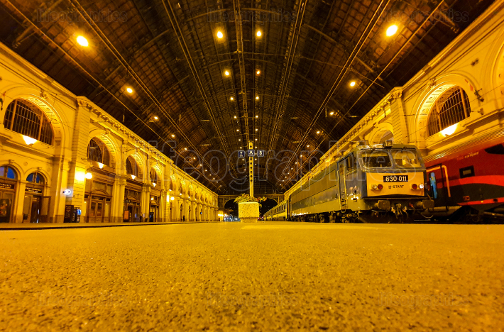 Ground view of the platforms at Budapest Keleti railway station