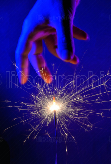 Hand and Fire Light Sparkler