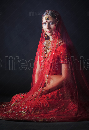 Hindu bride ready for marriage