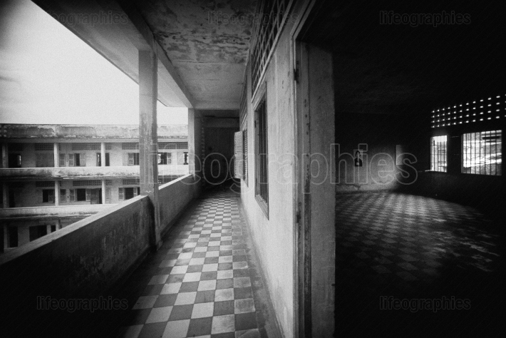 Intellectuals and kids jailed and tortured to death by dictator Pol Pot in prison Tuol sleng