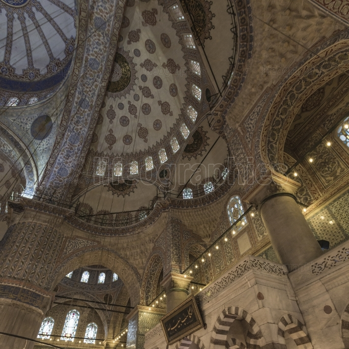 ISTANBUL, TURKEY - DECEMBER 13, 2015: The Blue Mosque, (Sultanah