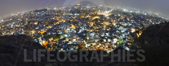 Jodhpur city by night