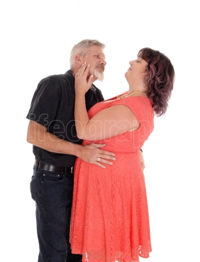 Kissing middle age couple