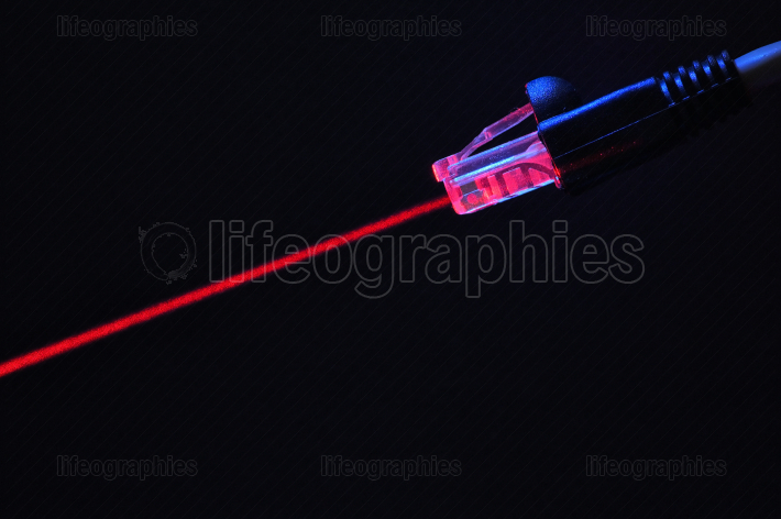 Lan Cable Is Connecting Internet