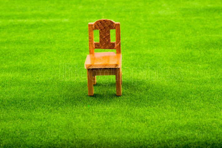 Little model wooden chair