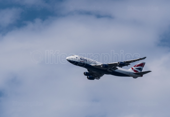 LONDON, UK-JULY 1, 2019: British Airways Airbus