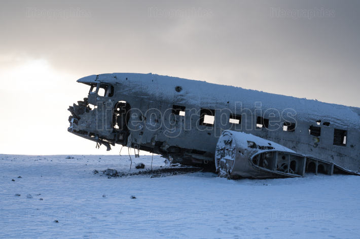Lost places, crashed plane close to Vik on Iceland