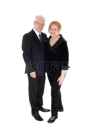 Lovely senior couple dressed up