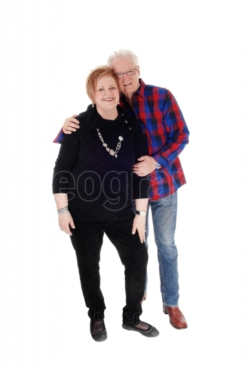 Lovely senior couple standing