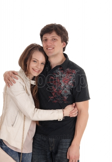 Lovely young couple embracing each other