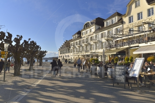Main Square in the town of Rapperswil, Switzerland