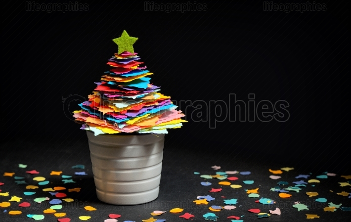 Mini DIY Paper Tree Christmas Decoration