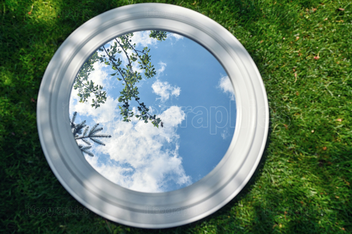 Mirror on spring field