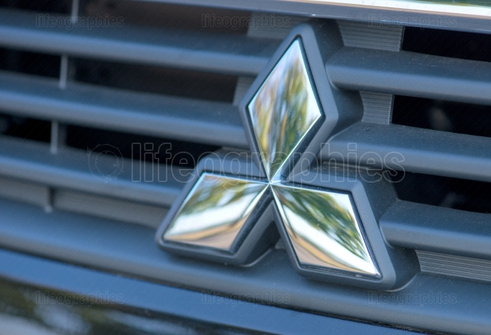Mitsubishi logo on September 2 2017 in ROMANIA