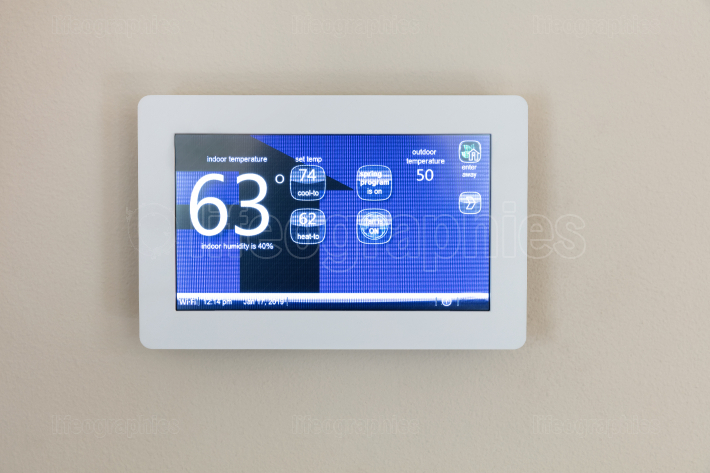 Modern technology heating and cooling digital touch screen therm