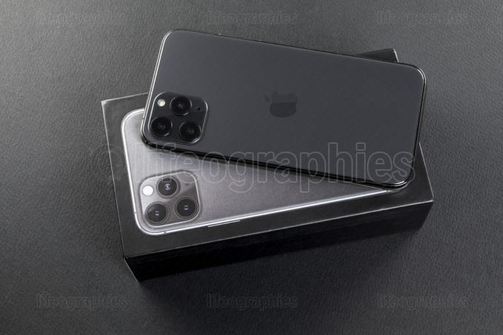 New Iphone 11 Pro Max back view on box