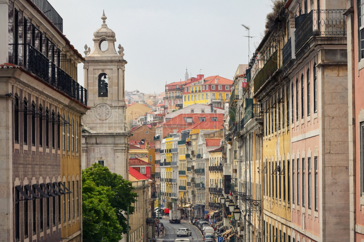 Old Lisbon street and buildings