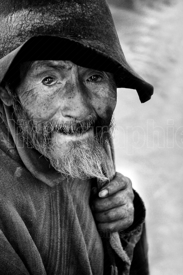 Old Peruvian man