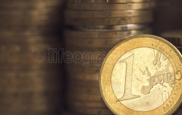 One euro coins