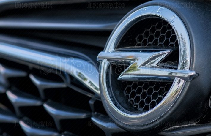 Opel logo on September 2 2017 in ROMANIA
