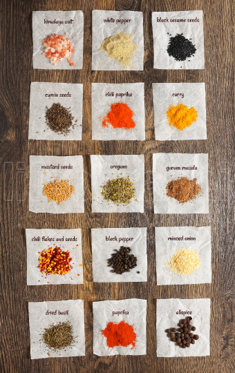 Overhead View Of A Colourful Individual Spices