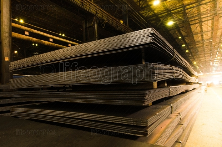 Packed of steel sheet