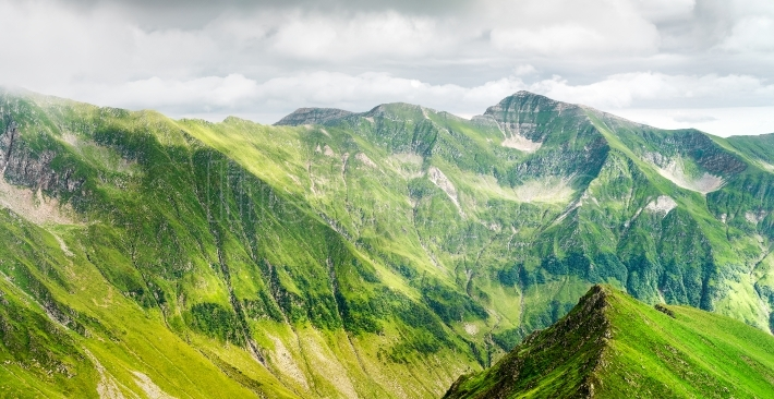 Panoramic view of Carpathian Mountain
