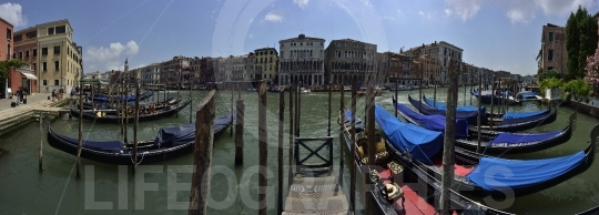 Panoramic view with venice, italy