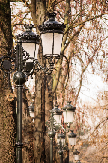 Pedestrian street lighting