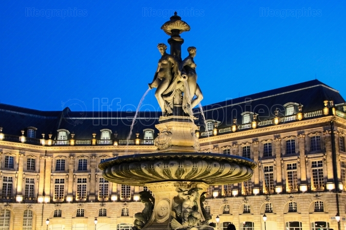 Place de la bourse at night
