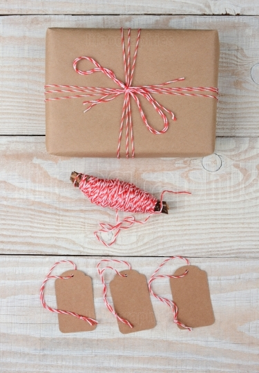 Plain Wrapped Present String and Tags
