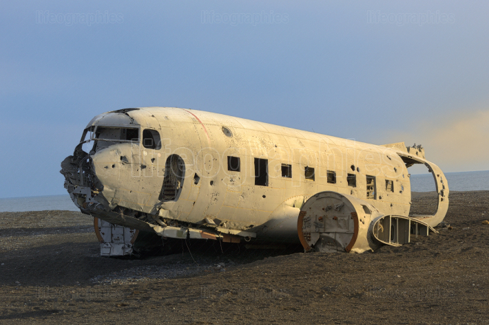 Plane Wreck on Iceland Beach