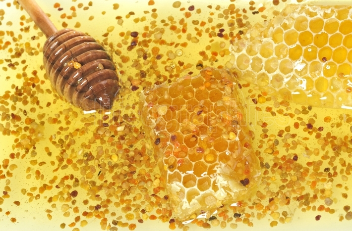 Pollen and honey