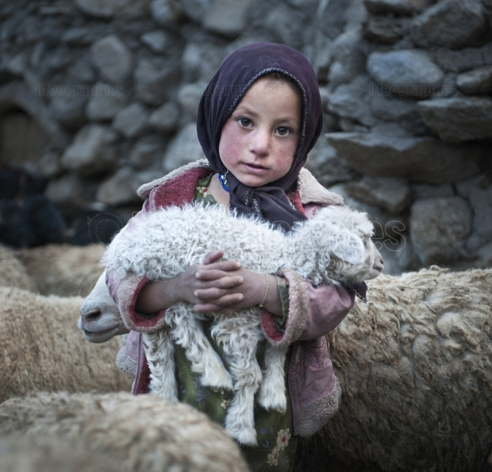 Poor girl from Upper Shimshal village