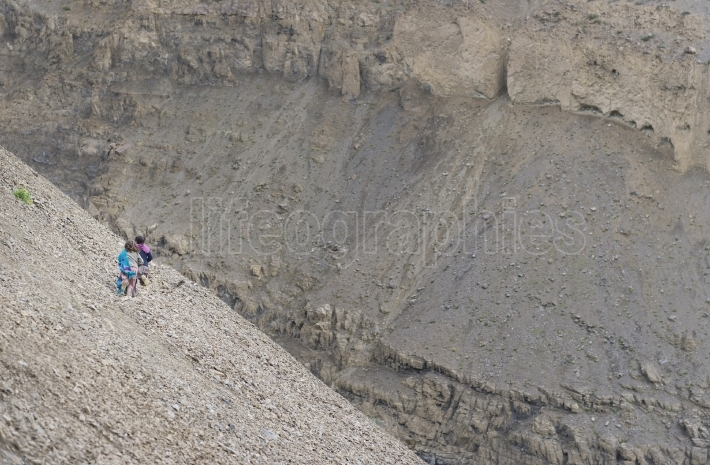 Poor kids on Karakoram hills, Pakistan